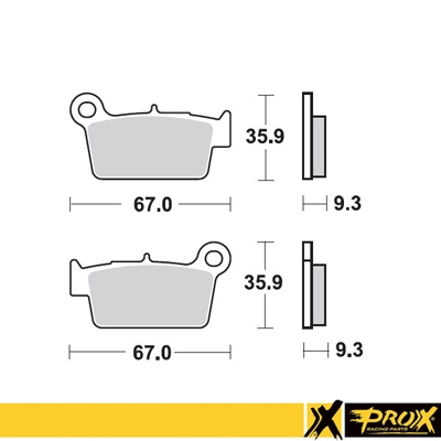 Bremsbeläge Prox Sintermetall 37.201302 Hinterachse TM / Yamaha / Suzuki