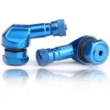 Winkelventil schlauchlos blau